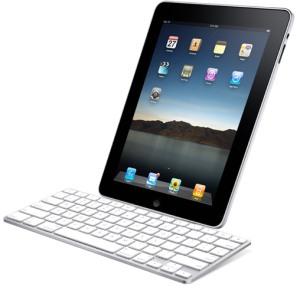 iPad conectado a un teclado físico